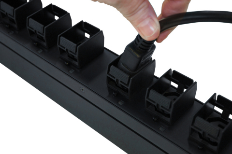 CPI intelligent eConnect® PDUs feature patented Click Secure Locking Outlets. (Photo: Business Wire)