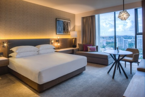 Hyatt Regency Andares Guadalajara features 257 guestrooms, including 25 suites that offer access to the hotel's Regency Club lounge and exclusive benefits. (Photo: Business Wire)