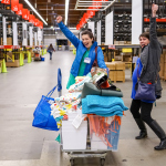 IKEA Renton donation day recipients celebrate their shopping spree at the old Seattle-area store. (Photo: Business Wire)