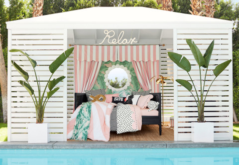 Emily & Meritt Spring Break Collection Cabana Stripe Bedroom (Photo: Business Wire)