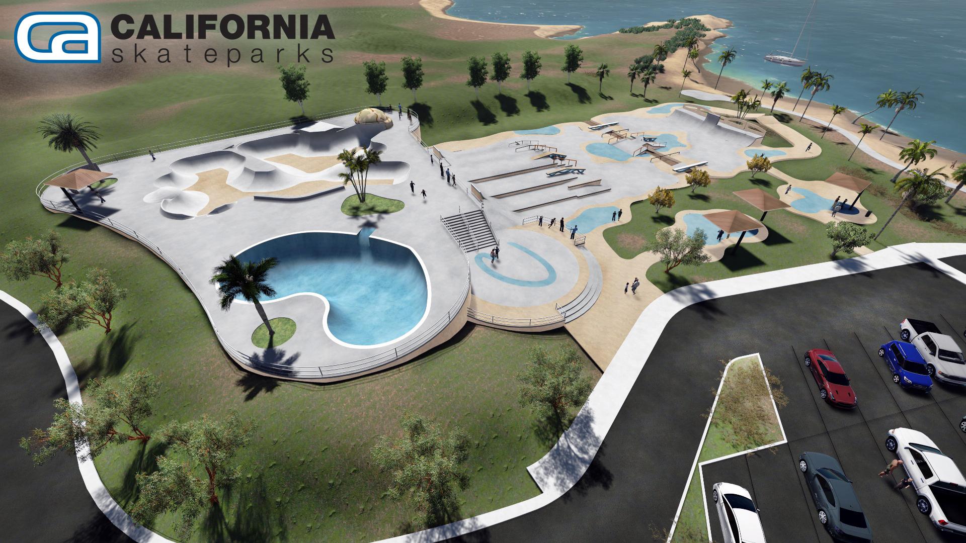 California Skateparks rendering for the Tinnell Memorial Skate Park. Lake Havasu City, Ariz. Photo Credit: @MRZ