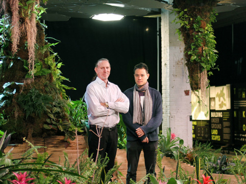 Lighting Science Founder Fred Maxik and James Ramsey, inventor of the Lowline and principal of Raad Studio at the Lowline LAB in New York City. (Photo: Business Wire)