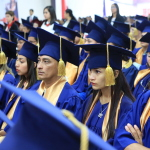 More than 150 HanesBrands employees donned caps and gowns to participate in the company's seventh graduation ceremony in Honduras. As part of the company's continuing education program, some employees earned their high school diploma while others received bachelor's degrees. (Photo: Business Wire)