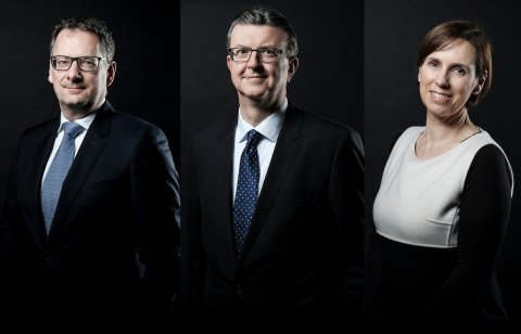 From left to right, Steve Collar, John Purvis and Evie Roos. (Photo: Business Wire)