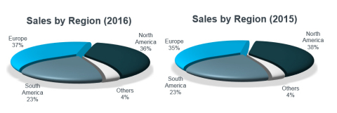Sales by Region (Graphic: Business Wire)