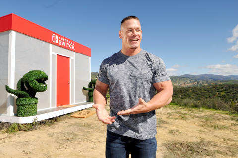 John Cena, WWE Superstar, hosts Nintendo Switch in Unexpected Places for the Nintendo Switch system on February 23, 2017 at Blue Cloud Movie Ranch in Santa Clarita, California. (Photo by John Sciulli/Getty Images for Nintendo of America)