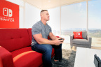 John Cena, WWE Superstar, plays The Legend of Zelda: Breath of the Wild on Nintendo Switch system while it is in TV mode, at the Nintendo Switch in Unexpected Places for the Nintendo Switch system on February 23, 2017 at Blue Cloud Movie Ranch in Santa Clarita, California. (Photo by John Sciulli/Getty Images for Nintendo of America)