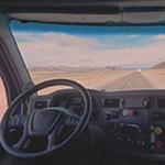 Embark's self-driving truck in Nevada
