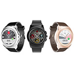 MyKronoz Introduces ZeTime: world's first hybrid smartwatch with traditional hands over a full round color touchscreen, available with customizable and interchangeable watch faces and straps from early September 2017 (Photo: Business Wire)