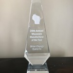 Orion Energy Systems Wins Wisconsin Manufacturer of the Year Market Adaptability Award (Photo: Business Wire)