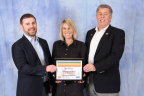 HanesBrands employees James Francis, Maria Teza and Mike Jeske accept the company's eighth consecutive and 10th overall United Way of North Carolina Spirit Award for outstanding employee fundraising campaign. (Photo: Business Wire)