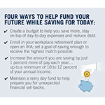 Individuals can help to fund their futures by taking four steps, beginning with creating a budget. (Photo: Business Wire)