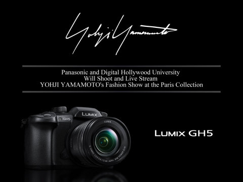 LUMIX DC-GH5 will be used for the shoot of YOHJI YAMAMOTO's fashion show at the Paris Collection (Ph ...