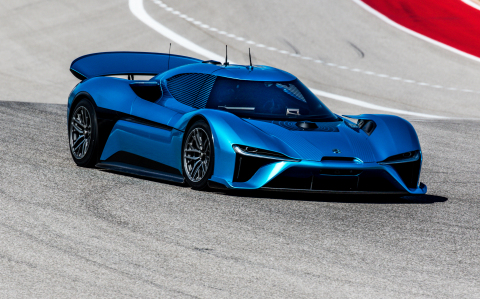 On February 23rd 2017, the NIO EP9 set the COTA track record with a time of 2 minutes 40.33 seconds and a top speed of 160 mph. On that same date, the NIO EP9 also beat the fastest lap time for a production car with a driver. The lap time clocked 2 minutes and 11.33 seconds and a top speed of 170 mph. (Photo: Business Wire)