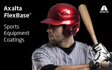 Axalta's new FlexBase product line brings brilliant color to sports equipment. (Photo: Axalta)