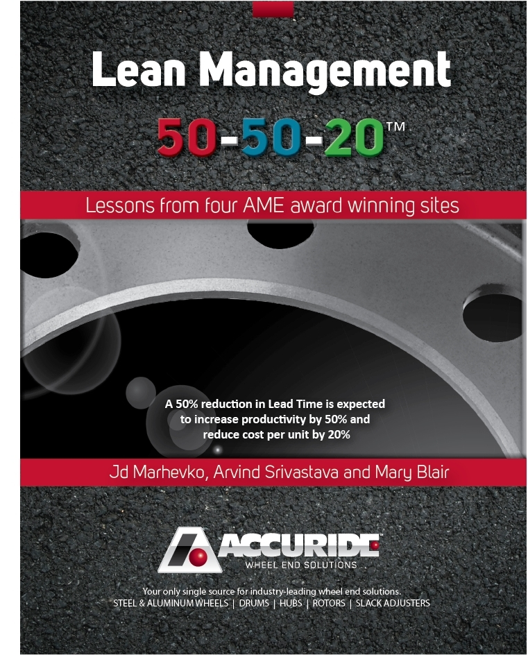 """Accuride publishes new book, """"Lean Management 50-50-20,"""" as a guide to Lean implementation in paperback and e-book formats. (Photo: Business Wire)"""
