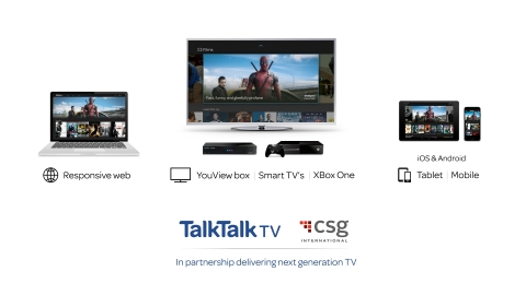 TalkTalk TV and CSG International announced partnership to deliver next-generation TV (Photo: Business Wire)
