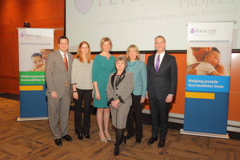 United Health Foundation announced a $1.2 million grant partnership with the Medical College of Wisconsin to announce The Periscope Project, a real-time, care coordination program addressing the mental wellness of new and expectant mothers across the Milwaukee area. The grant was announced at Medical College of Wisconsin on Monday by Dustin Hinton, president and CEO, UnitedHealthcare of Wisconsin, Becky Schroeder, co-founder, Moms Mental Health Initiative, Dr. Christina Wichman, associate professor, Medical College of Wisconsin, Dr. Donna Davidoff, ‎chief medical officer, UnitedHealthcare Community Plan, State Sen. Alberta Darling, 8th Senate District, and Dr. John Raymond, president and CEO, Medical College of Wisconsin (Photo: John-Paul Greco).