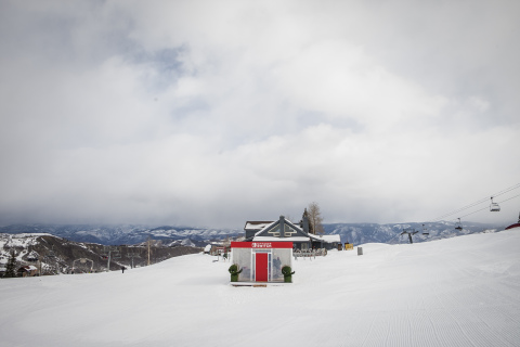 In this photo provided by Nintendo of America, the Nintendo Switch in Unexpected Places is set against the backdrop of the Snowmass Ski Resort in Aspen, Colorado, on Feb. 27. The experience provided consumers with the opportunity to sample the new Nintendo Switch home gaming system, launching worldwide on March 3. (Photo: Nintendo of America)