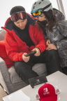In this photo provided by Nintendo of America, local fans from the Snowmass Ski Resort in Aspen, Colorado, play the Nintendo Switch system in tabletop mode. A home gaming system with the portability of a handheld, the Nintendo Switch system launches worldwide on March 3. (Photo: Nintendo of America)