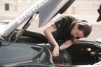 """Arrow Electronics Senior Applications Engineer Noel Marshall working on the Arrow Semi-Autonomous Motorcar, or SAM Car. Marshall was named a """"Women Worth Watching in STEM"""" by Profiles in Diversity Journal. (Photo: Business Wire)"""