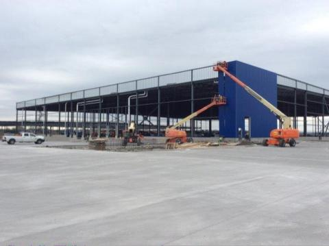 Iconic blue panels to transform future IKEA Grand Prairie, opening Fall 2017. (Photo: Business Wire)