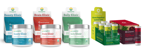 Amazing Grass Debuts New Elixir and Effervescent Lines at Expo West 2017 (Photo: Business Wire)