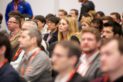 The conference at the Wearable Technology Show (Photo: Business Wire)