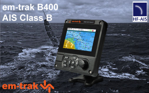 em-trak B400 AIS Class B - 5W SOTDMA (Photo: Business Wire)