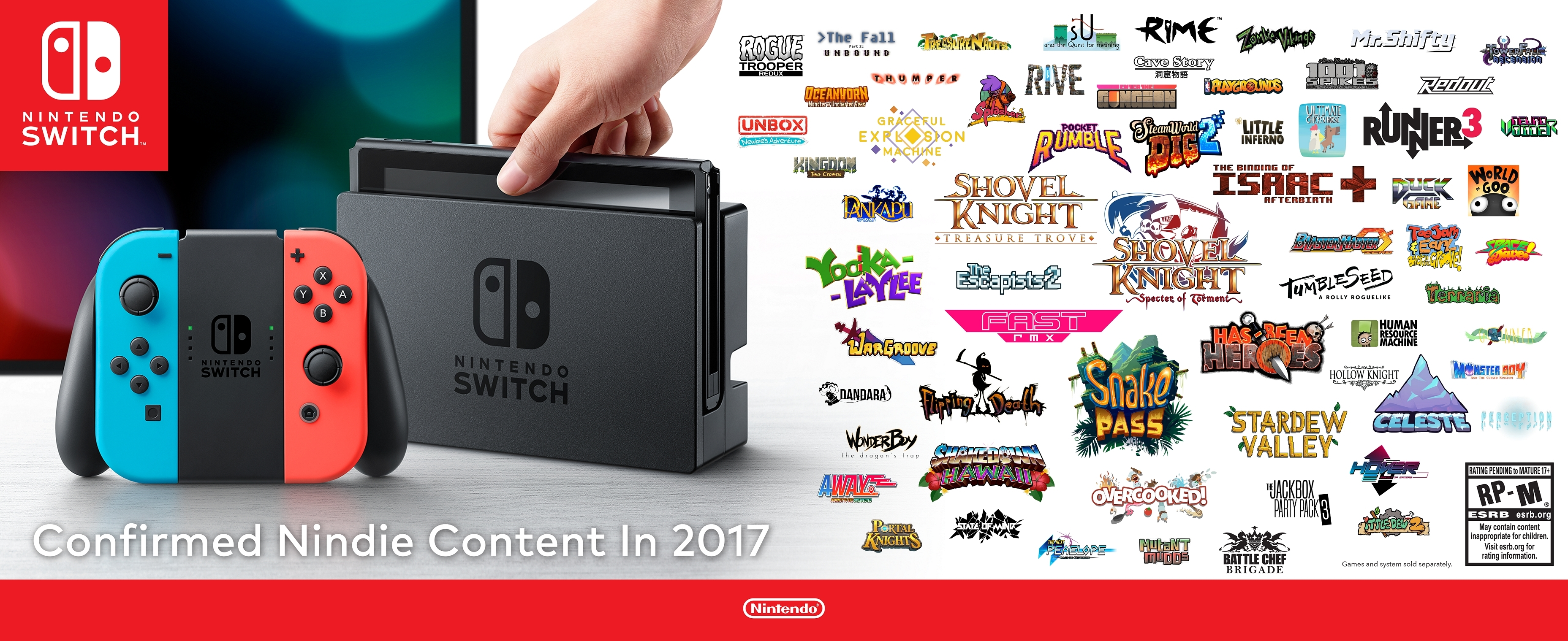 More than 60 quality indie games are confirmed for Nintendo Switch this year alone, and many games take advantage of unique Nintendo Switch features. (Photo: Business Wire)