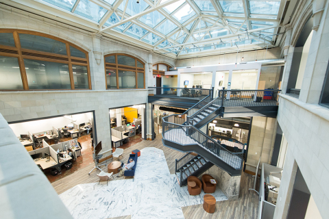 Carnegie Learning Headquarters in the Union Trust Building, Pittsburgh, PA (Photo: Business Wire)