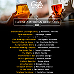 Great American Beer Bars 2017 (Graphic: Business Wire)