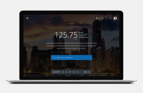 Q4 Desktop Welcome Dashboard with Natural Language Processing (NLP) Commentaray (Photo: Business Wire).