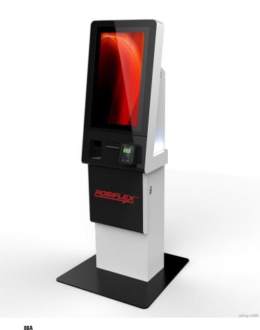 Der Selbstbedienungskiosk der Serie Posiflex KK-2130