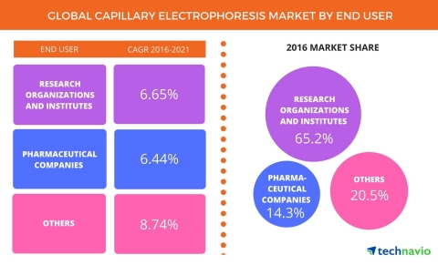 Technavio has published a new report on the global capillary electrophoresis market from 2017-2021. (Graphic: Business Wire)
