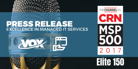 VOX Network Solutions Recognized for Excellence in Managed IT Services (Graphic: Business Wire)