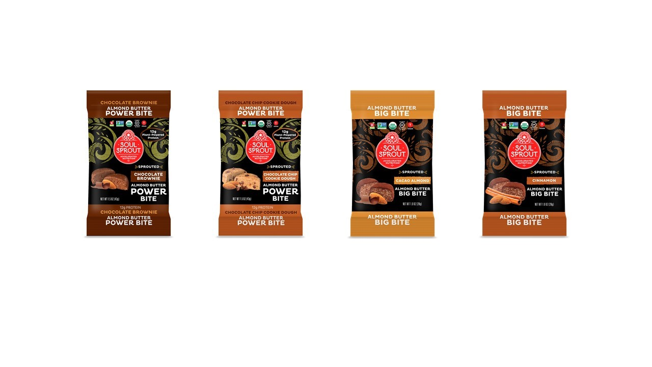 Soul Sprout™ Unveils New Plant-Based Almond Butter Power Bites and Big Bites at Natural Products Expo West 2017 (Graphic: Business Wire)