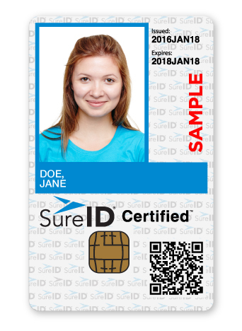 The SureID Certified Edge solution facilitates recurring background screenings for volunteers on a subscription basis, complete with wallet-sized tamper-resistant ID card (Photo: Business Wire)