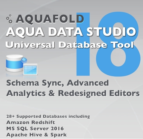 Aqua Data Studio v18 (Graphic: Business Wire)