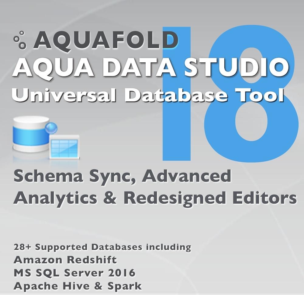 Aqua Data Studio v18 (Graphic: Business Wire)