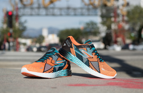 The limited edition Skechers GOmeb Razor. Part of the official 2017 Skechers Performance Los Angeles Marathon footwear collection. (Photo: Business Wire)