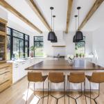 Product: Architect Series Contemporary casement windows Material: Wood Finish: Black (Photo Credit: Jordan Iverson Signature Homes and KuDa Photo)