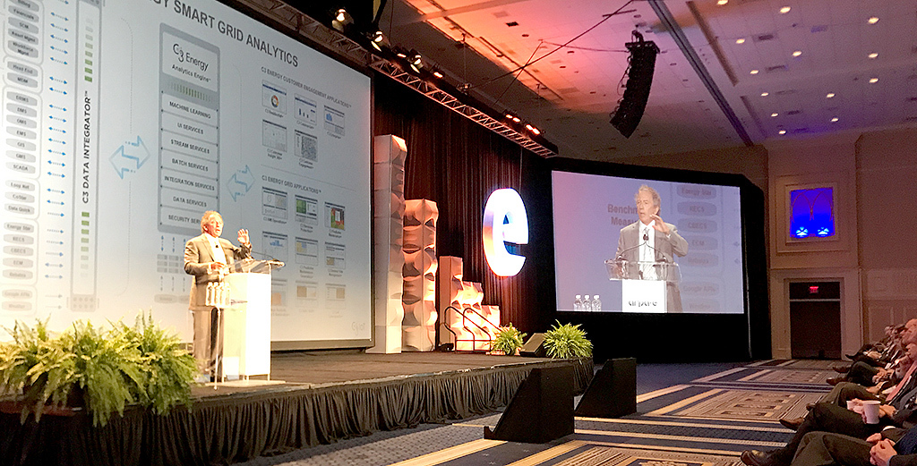 C3 IoT CEO Tom Siebel delivered plenary keynote on industrial-scale digital transformation at ARPA-E Energy Innovation Summit in Washington, D.C., on March 1, 2017. (Photo: Business Wire)
