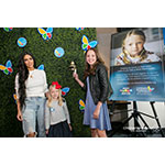 In the photo (L-R), entertainment superstar Kim Kardashian West was on hand to kick off the second annual Children's Hospital Los Angeles Make March Matter fundraising campaign with patients Saylor Pierson, 7, and Grace Rose, 14. The campaign aims to raise $1 million in March. (Pierson is the campaign's poster girl). (Photo by Keats Elliott)
