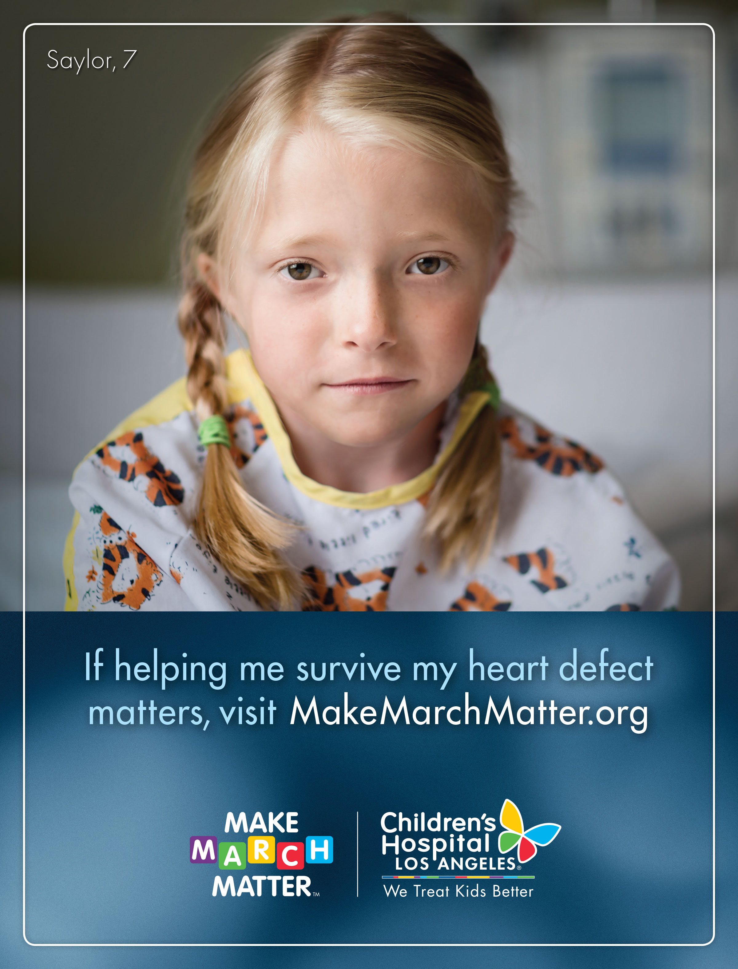 The Make March Matter 2017 campaign ad with patient Saylor Pierson, 7. (Photo: Business Wire)