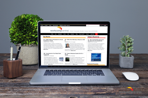 New sleek responsive design makes reading your workers compensation news a breeze on any device! (Photo: Business Wire)