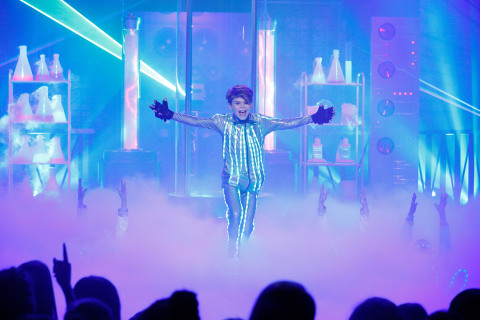 Episode 101 - Pictured: Merrick Hanna in LIP SYNC BATTLE SHORTIES on NICKELODEON. Photo Credit: Trae Patton/Nickelodeon (C) 2016 Viacom, International, Inc. All Rights Reserved.
