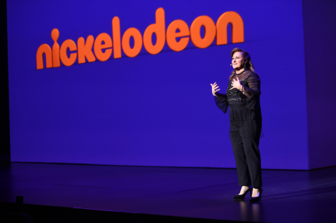 Caption: Cyma Zarghami speaks onstage at the Nickelodeon Upfront 2017 at Jazz at Lincoln Center on T ...