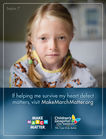 2017 Children's Hospital Los Angeles Make March Matter campaign ad. (Graphic: Business Wire)