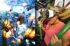 Riders, using Samsung Gear VR powered by Oculus, will become pilots of a futuristic gunship under attack by mutant spiders on Drop of Doom VR, North America's first-ever permanent drop tower virtual reality attraction, debuting at Six Flags Over Georgia near Atlanta on March 11. Drop of Doom VR will be available for free with paid park admission, for a limited time only. (Photo: Six Flags Over Georgia)